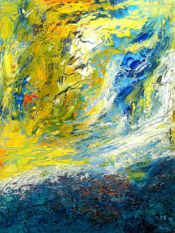 collision-of-yellow-and-blue48x36-713x950